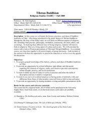 Tibetan Buddhism - College of Arts & Sciences