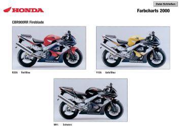 Farbcharts 2000 - Motorrad Streifeneder