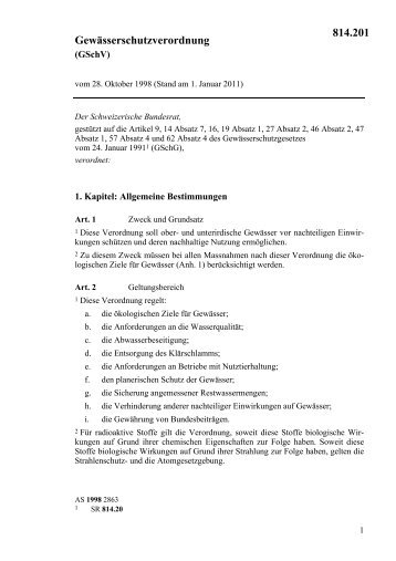 Gewässerschutzverordnung (GschV) - Joppen & Pita AG | Umwelt ...