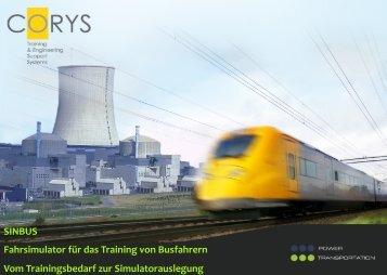 SINBUS Fahrsimulator für das Training von Busfahrern Vom ... - DVR