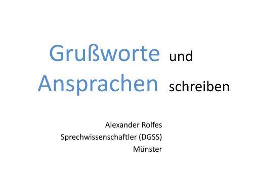 Grußworte Und Ansprachen Schreiben Ehrenamt Emsland