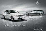 C - Klasse Limousine und T - Modell. - Mercedes