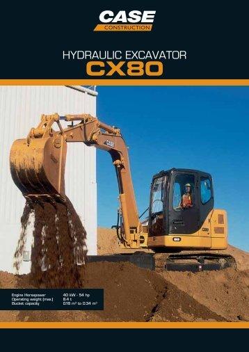 HYDRAULIC EXCAVATOR - Case Construction Equipment