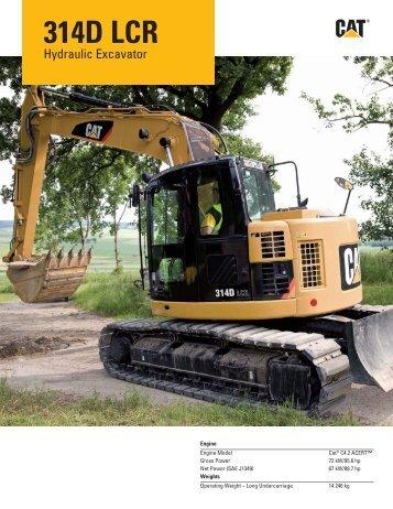 HEHH4000-02, 314D LCR Hydraulic Excavator Specalog