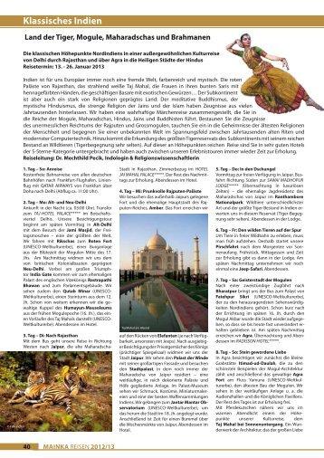 Katalogseiten zum Ausdrucken - Mainka-Reisen