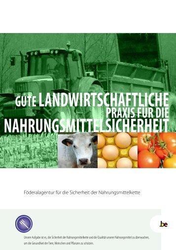 Gute Landwirtschaftliche Praxis für die Nahrungsmittelsicherheit - Favv