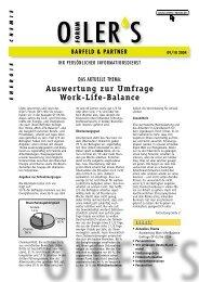 Auswertung zur Umfrage Work-Life-Balance - Barfeld - Forum