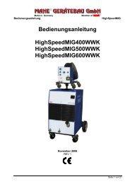 5 Einstellungs- und Schweißanweisungen - ISO Schweisstechnik AG