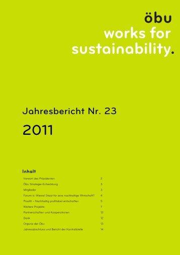 Download Jahresbericht 2011 - Öbu