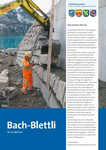 Nr. 20, April 2012 - Schwellenkorporationen Brienz - Brienzwiler ...