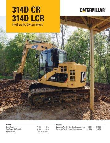 AEHQ5955, 314D CR/314D LCR Hydraulic Excavators Specalog