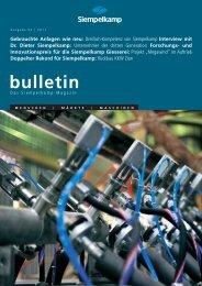 Bulletin 2/ 2011 - Siempelkamp