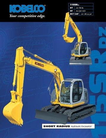 SHORT RADIUS Hydraulic Excavator 115SRDZ - SMEC