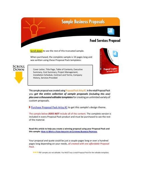 Sample Business Proposal Proposal Kit