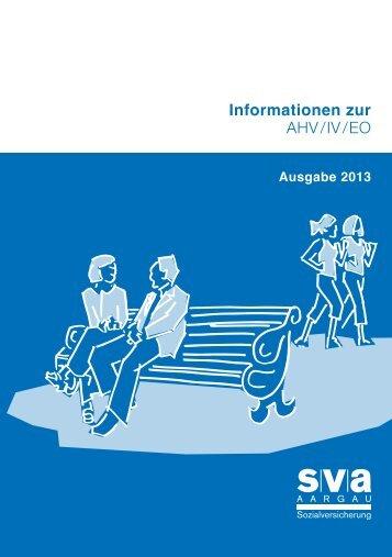 Informationsbroschüre 2013 (PDF, 1.5 MB) - SVA Aargau