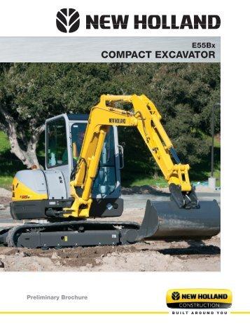E55Bx compact excavator
