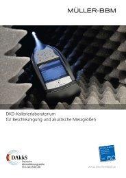 Broschüre_Kalibrierlabor (PDF, 576 KB) - Müller-BBM GmbH