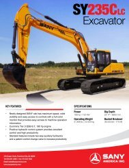 Excavator - Tar Heel Machinery