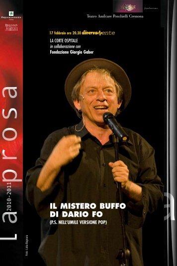 IL MISTERO BUFFO DI DARIO FO - Teatro A. Ponchielli
