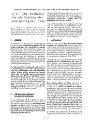 tie als Zeichen der Lebenshingabe Jesu - Theologie-Skripten