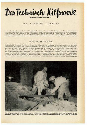 NR. 8 - AUGUST 1960 - 7. JAHRGANG IN HA L T S V ER ... - THWhS