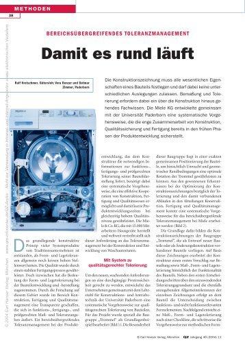 Damit es rund läuft - QZ-online.de