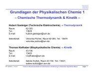 Grundlagen der Physikalischen Chemie 1 - TUM