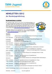 NEWSLETTER I/2012 - THW-Jugend eV