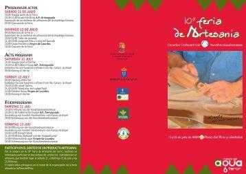 programa de actos acts programm feierprogramm ... - Tourism On Line