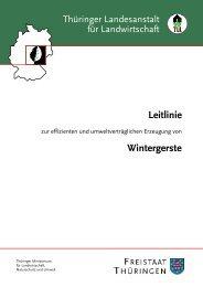 Leitlinie - Erzeugung Wintergerste - TLL