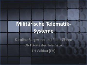 Militärische Telematik-Systeme - Technische Hochschule Wildau