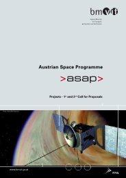 ASAP Weltraumprogramm - Projekte der 1. und 2. Ausschreibung