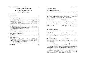 Finite Elemente Methoden I Hausaufgaben - Musterl osung