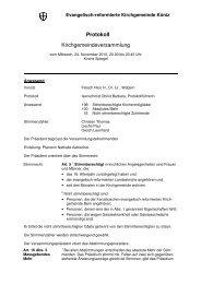 1. Protokoll Kirchgemeindeversammlung - Kirchgemeinde Köniz