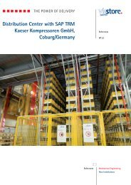 Distribution Center with SAP TRM Kaeser ... - ViaStore Systems