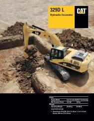 Specalog for 329D L Hydraulic Excavator, AEHQ5988-01