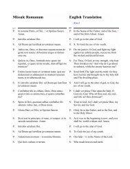 Missale Romanum English Translation - WebRing