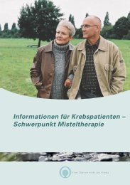 Informationen für Krebspatienten – Schwerpunkt Misteltherapie