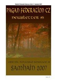 Pagan Federation CZ Newsletter #5 - Pohanská Federace