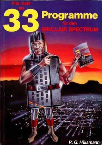 Viel mehr als 33 Programme für den Sinclair Spectrum