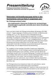 Pressemitteilung als PDF-Dokument - Philologenverband Baden ...