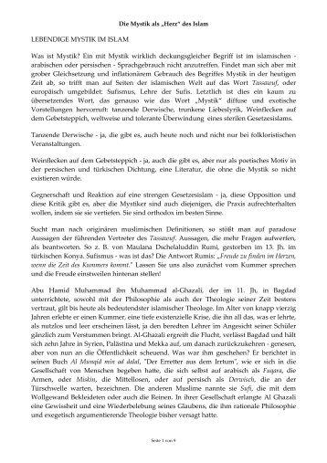 """Mystik als """"Herz"""" des Islam - Wilhelm Sabri Hoffmann"""