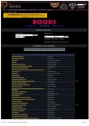 SEARCH FOR BOOKS ALPHABETICAL LIST OF BOOKS