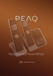 Bedienungsanleitung - PEAQ