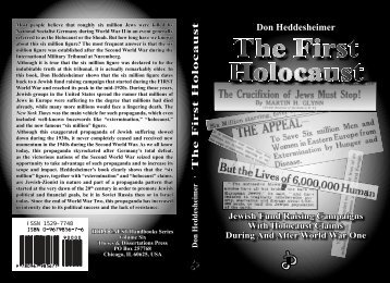 The First Holocaust - The Works and Research of ZionCrimeFactory