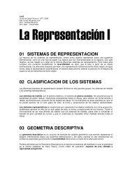 01 SISTEMAS DE REPRESENTACION 02 CLASIFICACION DE LOS ...