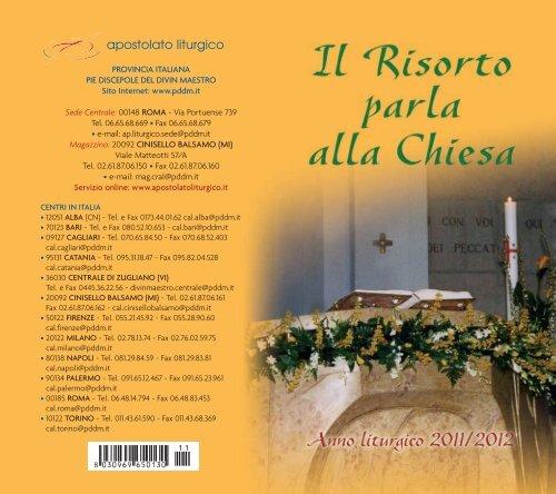calendario liturgico 2011-2012 - Pie Discepole del Divin Maestro