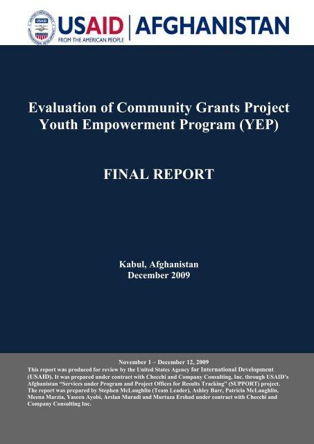 Project evaluation report of community development