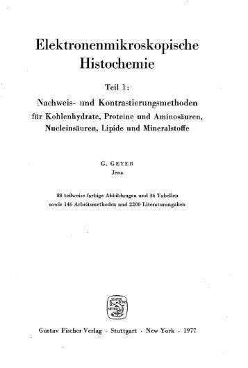 Elektronenmikroskopische Histochemie