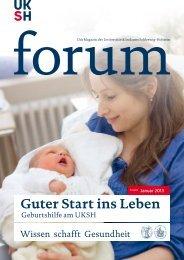 Ausgabe Januar 2013 [pdf] - UKSH Universitätsklinikum Schleswig ...